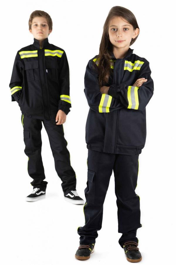Detská hasičská súprava, bunda + nohavice (9500)